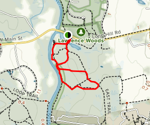 Sabine River, East Trail, and Rhododendron Trail Loop Map