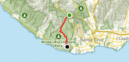 Wilder Ranch Downhill: Eucalyptus to Twin Oaks Map