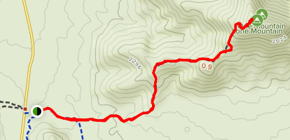 EJ Peak (Lone Mountain) Map