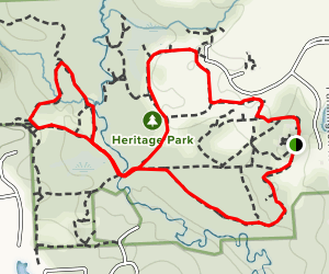 Valley, Meadow and Windbreak Trail Loop Map