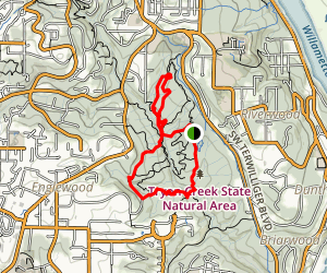 Tryon Creek Triple Bridge Loop Map