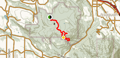 Fred's Railroad Trail to Wilderness Peak Loop Map