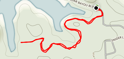 Cedar Bayou Trail Map