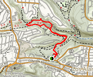 North and South Pueblo Bench Trail Loop Map
