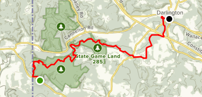 North Country Trail: Bowtown to Darlington Map