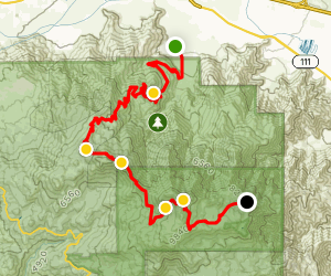 Snow Creek to San Jacinto Peak to Tram Map