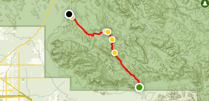 Peralta Trail to First Water Map