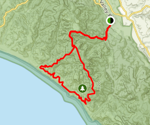 Meadow Trail and Sky Trail to Coast Trail Map
