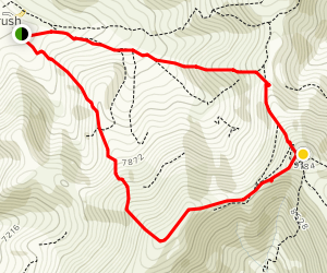 Mount Teghenis Summit Trail Map