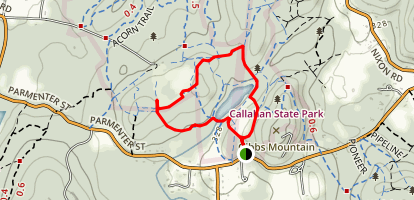 Bear Paw, Backpacker, and Pine Tree Loop Map