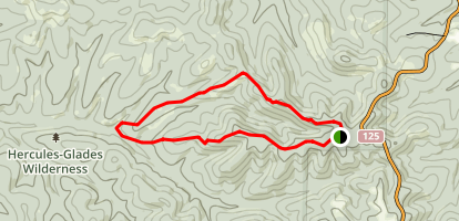 Pole Hollow Loop Map