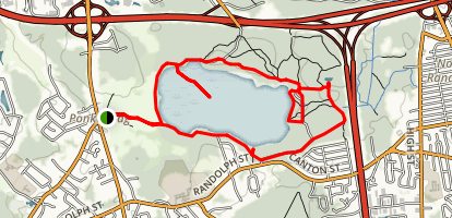 Ponkapoag Pond Trail Map