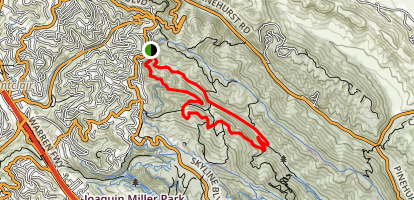 Stream Trail to Tres Sendas, Starflower and French-West Ridge Map