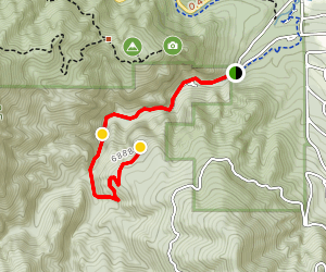 Seven Falls to Inspiration Point Map