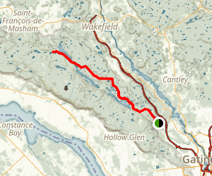 Gatineau Mountain Bike Map