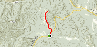 North Fork Trail to Death's Head Trail Map