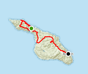 Trans Catalina Trail: Two Harbors to Avalon Map