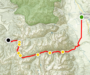 Buena Vista to Tincup 4x4 Map
