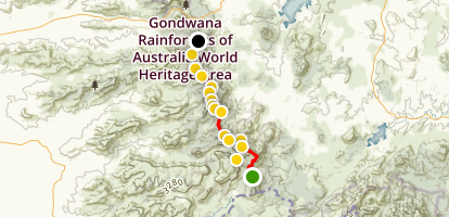 Main Range Traverse via Mount Bell Map