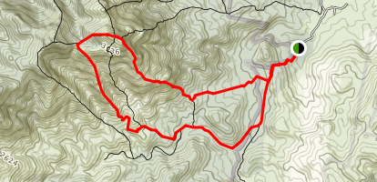 Mount Barney South East Ridge and Peasants Ridge Map