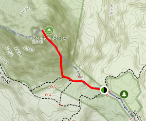 Mount Lindesay Map