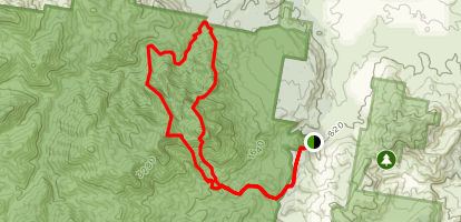 Peasants Ridge, Midget Ridge, Eagles Ridge, Mezzanine Ridge Map