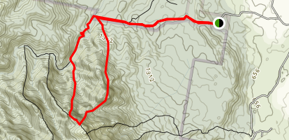 Eagle's Ridge to Leaning Peak and Short Leaning Ridge Map