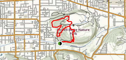 Powell Butte Loop Trail Map