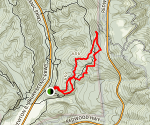 Cal Barrel to Rhododendron Trail Loop Map