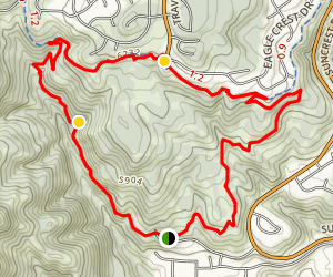 Woods Hollow, Eagle Crest, and South Maple Hollow Loop Map