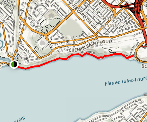 Sentier Des Greves Map