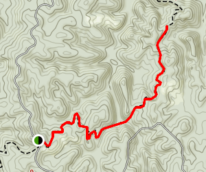 Pinhoti Trail to Lower Shoal Shelter Map
