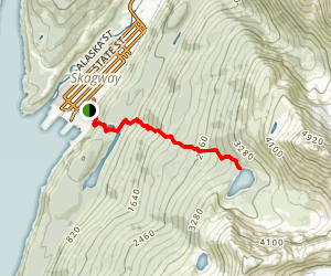 Upper Dewey Lake Trail Map