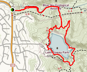 Blue Sky Canyon Trail Map