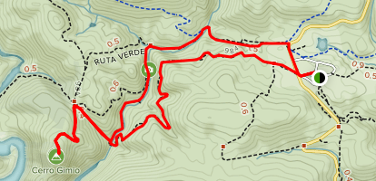 Cerro Gimio and the Malvecino Stream Map