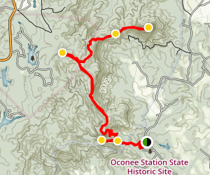 Palmetto Trail to Tamassee Knob Map