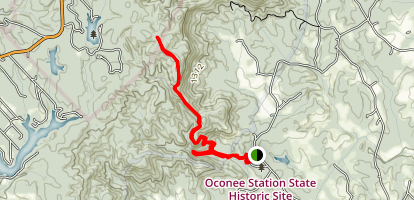 Oconee Mountain and Station Cove Falls Trail Map