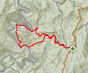 Big Bend Falls and Round Top Loop Map