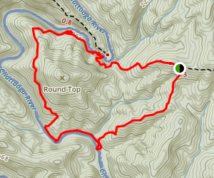 Foothills Trail Round Top Loop Map
