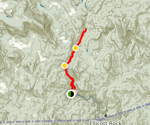 Chattooga River Trail from Bull Pen Road Map