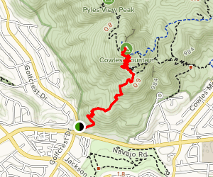 Cowles Mountain Trail Map