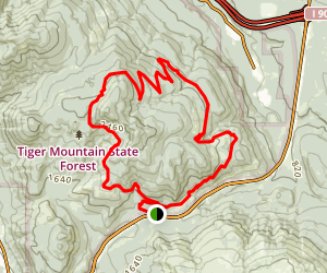 Tiger Mountain Trail: Preston Railroad Grade to Silent Swamp and Joyride to Northwest Timber Map