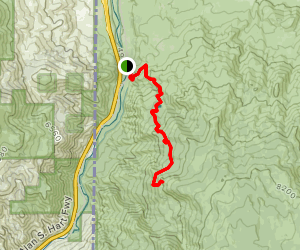 Fuller Lake and Cone Peak [PRIVATE PROPERTY] Map