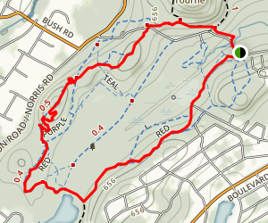 Red Trail Loop Map