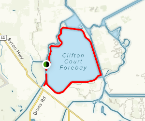Clifton Court Forebay Trail Map
