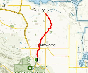 Marsh Creek Trail via Concord Avenue Map