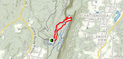 Middle Trail to Trail A Loop [PRIVATE PROPERTY] Map