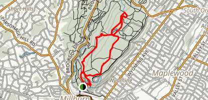 Lenape Trail and Sunset Trail Loop Map
