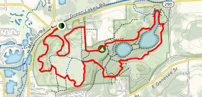 Green Lakes Perimeter Trail Map