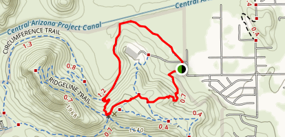 Circumference Trail and Basalt Trail Map